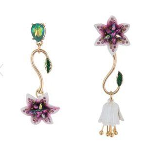Betsey johnson lily mix match dangle earrings
